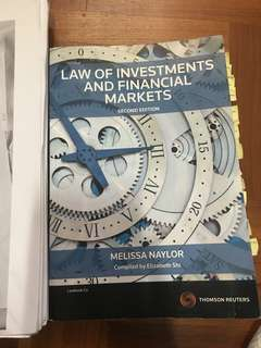 RMIT Law of Investments & Financial Markets 2nd Edition