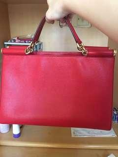D&G Dolce Gabbana 大紅色Sicily bag