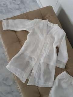 Off white Baby Baju Kurung Size 2