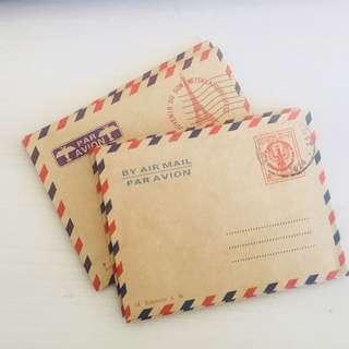 Mini Brown Vintage Paris Airmail International Envelope