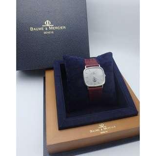 Baume & Mercier 名仕 ~ 1983年 50th全明星賽週年紀念表面 S/S石英男裝皮帶錶 w/Box
