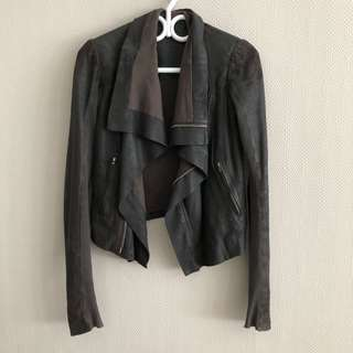 Rick Owens leather jacket - see all pics for wear