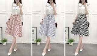 (M - L) Checkered Skirt