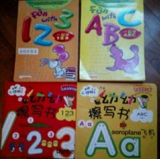 Set of 4 Alphabet books ABC and Numbers books 123