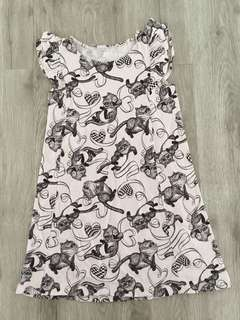 Uniqlo Pink Cat Dress