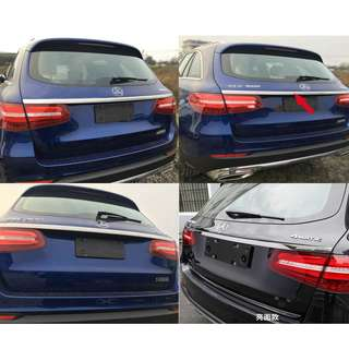 Rear Trunk Lid Cover Trim for M-Benz MB Mercedes-Benz GLC Class GLC250,200 2016 2017 stainless steel Gloss or Titanium Black