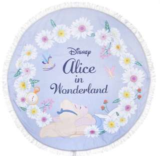 愛麗絲夢遊仙境大圓型流蘇毛巾