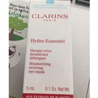 Clarins Paris Hydra-Essentiel Moisturising reviving eye mask
