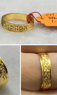 916 Gold Ring Size 20