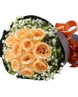 Champagne roses bouquet / mother's Day bouquet / flower bouquet