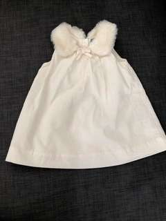 Baby Gap Dress With Fur Collar