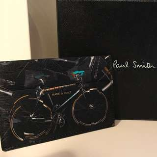 Paul Smith Bicycle Leather Card Holder, Black