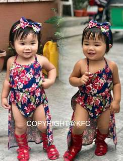 🌹🌹SCARLET ROMPER WITH HAIRBOW