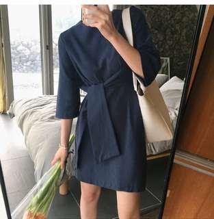 PREMIUM Nana Navy Blue Dress