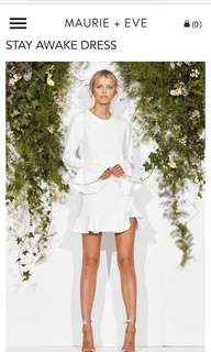 Maurie & Eve Stay Awake dress white