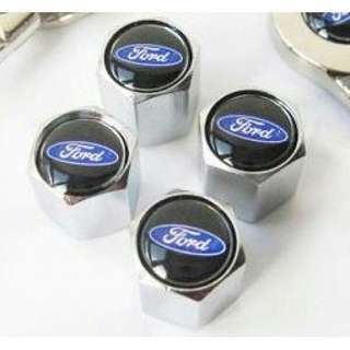 Ford logo Tyre/Tire Wheel Valve Cap Black Blue stems #MidMay75