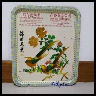(Reserved ) Vintage Metal Calendar Plate