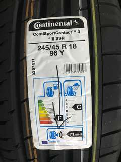 245/45R18 Continental Sport Contact 3 SSR