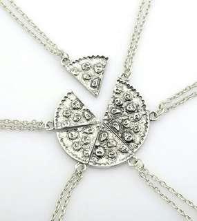 6pcs Pizza Friendship Necklace