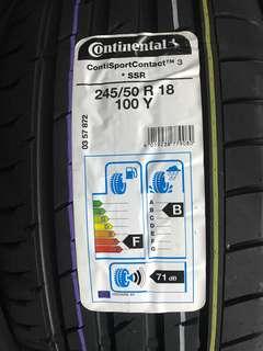 245/50R18 Continental Sport Contact 3 SSR