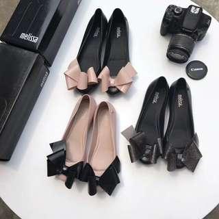 Melissa  蝴蝶結水晶鞋果凍鞋