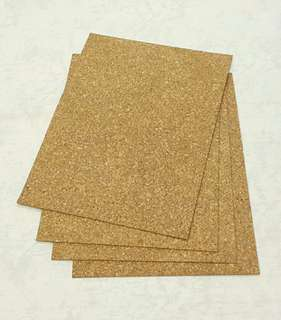 4 pcs. Cork Sheets
