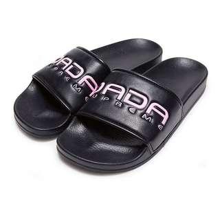 🚚 DADA女A.D.A.N. 潮流運動休閒拖鞋-黑粉