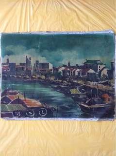 旧油画 (45x60cm)