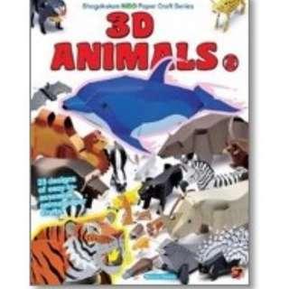 3D Animals Book 1 & 2