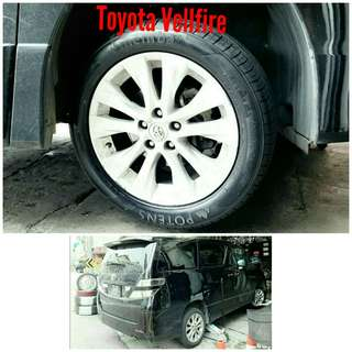Tyre 235/50 R18 Membat on Toyota Vellfire 🐕 Super Offer 🙋‍♂️
