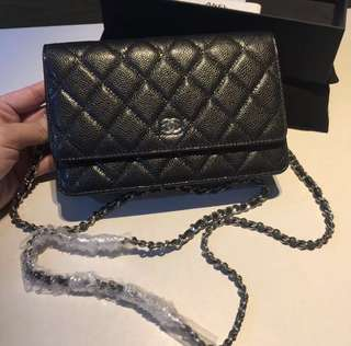 Chanel Wallet on Chain Black Caviar