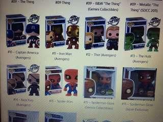 ISO/WTB: Funko Pop! Marvel - Avengers