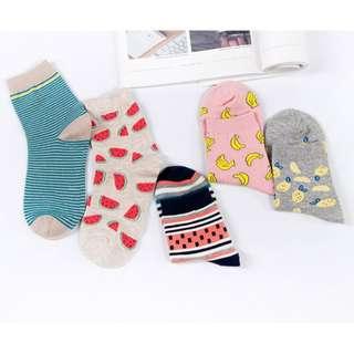 Fruit Printed Socks