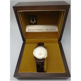 "1975 ACCUTRON by BULOVA-Gold Tone ""AMOCO Oil""公司 錶面 w/Box"