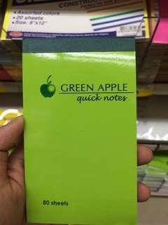 Green apple pocket ntbk
