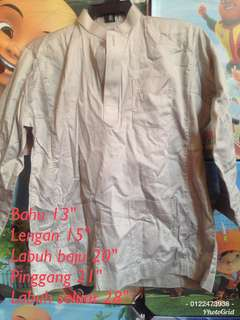 Preloved baju melayu light grey #rayaletgo