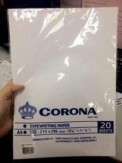Corona Bondpaper 20sheets (A4)
