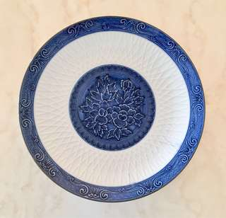 Japanese Arita blue-white porcelain big plate