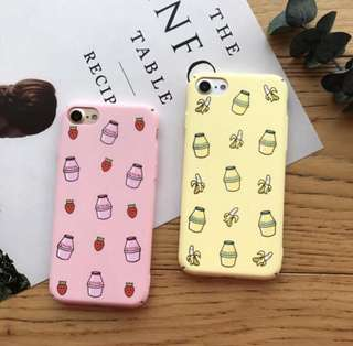 Banana & Strawberry Milk iPhone Cover Case