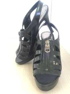 🚚 小ck 高跟涼鞋 前高台2cm 跟高10.5cm