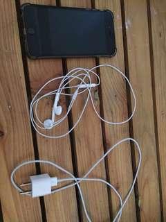 Iphone 6 Plus, Silver, Black. Factory Unlocked 128gb