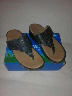 Super comfy navy sandals