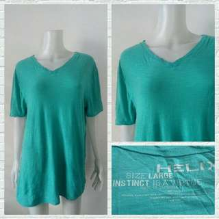 Helix Aqua Basic Tshirt V Neck