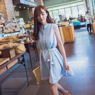 🚚 #新款韓版寬鬆繫帶連衣裙