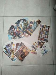 王者荣耀sticker, post cards, book marks