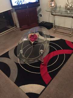 Centre table with rug
