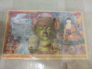 印度郵票—佛像小全張