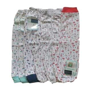 6PCS Celana Panjang LittleOwl 0-6 BULAN - SNI STANDART