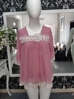 Blouse import pink