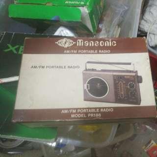 舊香港製造收音機, 80年代香港製造mansonic am / fm原子粒收音機 保存完好,有原裝紙盒及說明書九成新少見$200